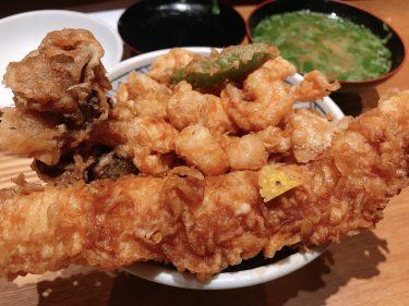 【天丼 金子屋 赤坂店】これぞ宝石箱!黄金色に輝く天丼が最高すぎる。