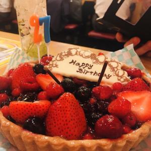 【誕生日】桜田公園でオリジナルケーキと新橋一件目酒場でキルフェボン。