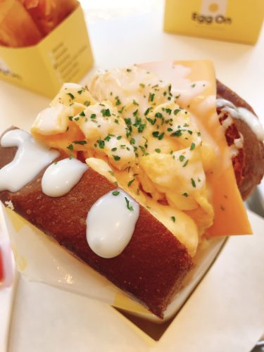 【エッグオン 田町店】韓国発祥!ブリティッシュサンドウィッチが楽しめるお店。